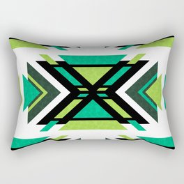 Aztec Forest (geometric pattern) Rectangular Pillow