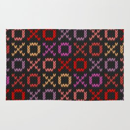 XOXO pattern - dark Rug
