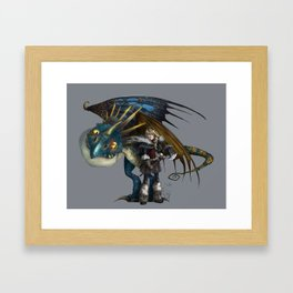 astrid & stormfly HOW TO TRAIN YOUR DRAGON 2 Framed Art Print