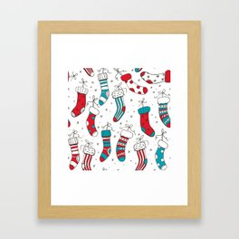 Christmas socks Framed Art Print