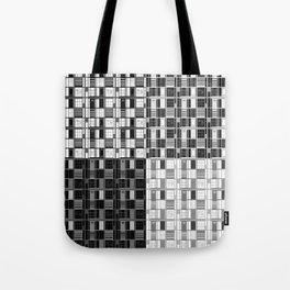 Fun Black-Cuadricula Tote Bag