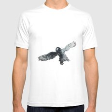 Soar the puffin MEDIUM Mens Fitted Tee White