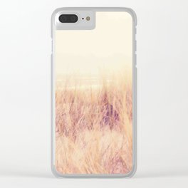 wind on the dunes Clear iPhone Case