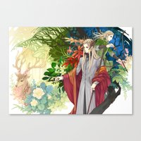 legolas Canvas Prints featuring Thranduil & Legolas by kagalin