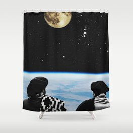 Come to see the moon Shower Curtain
