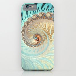 Vanilla Swirl - Fractal Art  iPhone Case