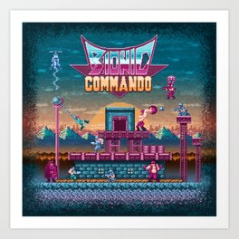 Commando Bionic Art Print