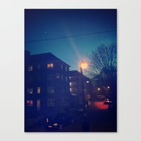 night sky Canvas Prints featuring Night Sky by ḋαɾќṡhαḋøώ .