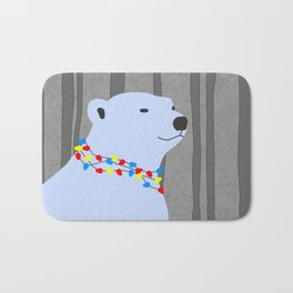 Polar Bear Holiday Design Bath Mat