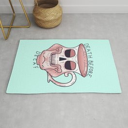 Death before decaf - Coffee Skull Mug Rug