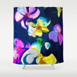 Abstracted Orchids Shower Curtain