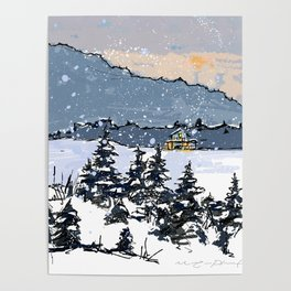 Winter Montains Poster