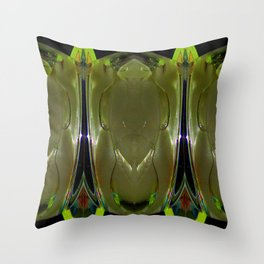Glass Ice Vase Repeat Throw Pillow