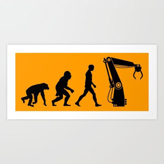 Replaced  |  Human Evolution Art Print