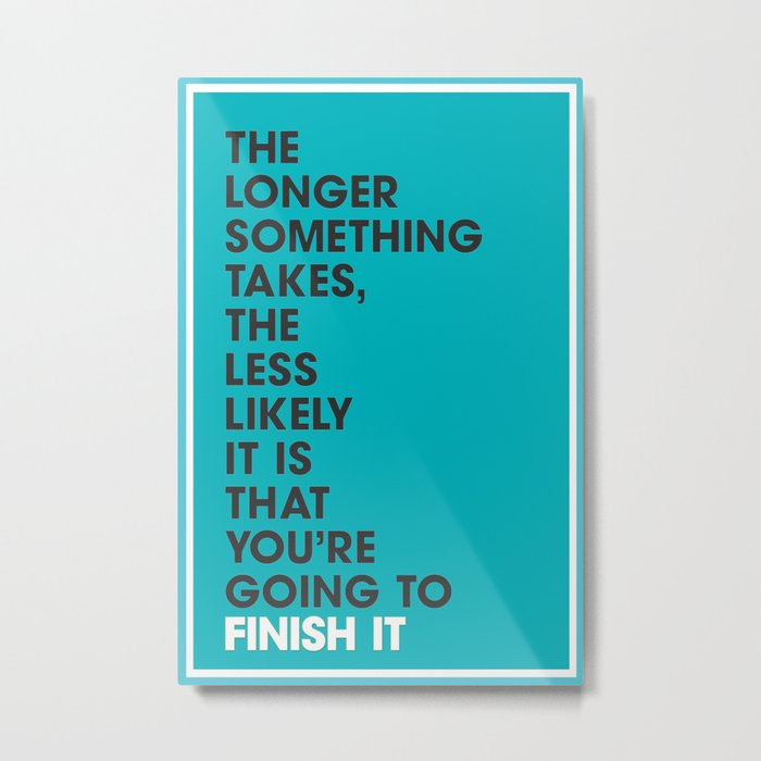 Startup Quote Poster Metal Print