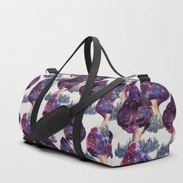 mushrooms mushroom galaxy space pattern Duffle Bag