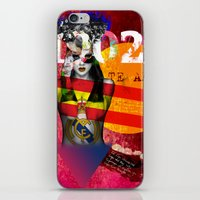 real madrid iPhone & iPod Skins featuring Real Madrid C.F. - Los Merengues by Silvia Qian