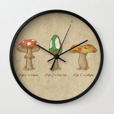 Mario Mycology Wall Clock