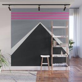 August - mirror pink Wall Mural