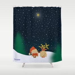 Nicolas&Rudolph (Star) Shower Curtain