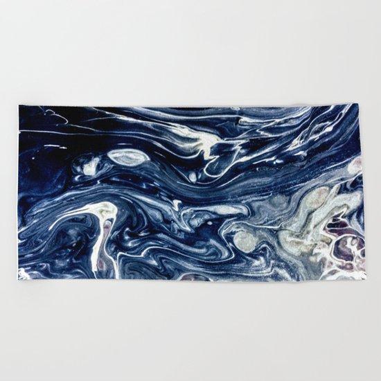 Wild Blueberry Swirl Beach Towel