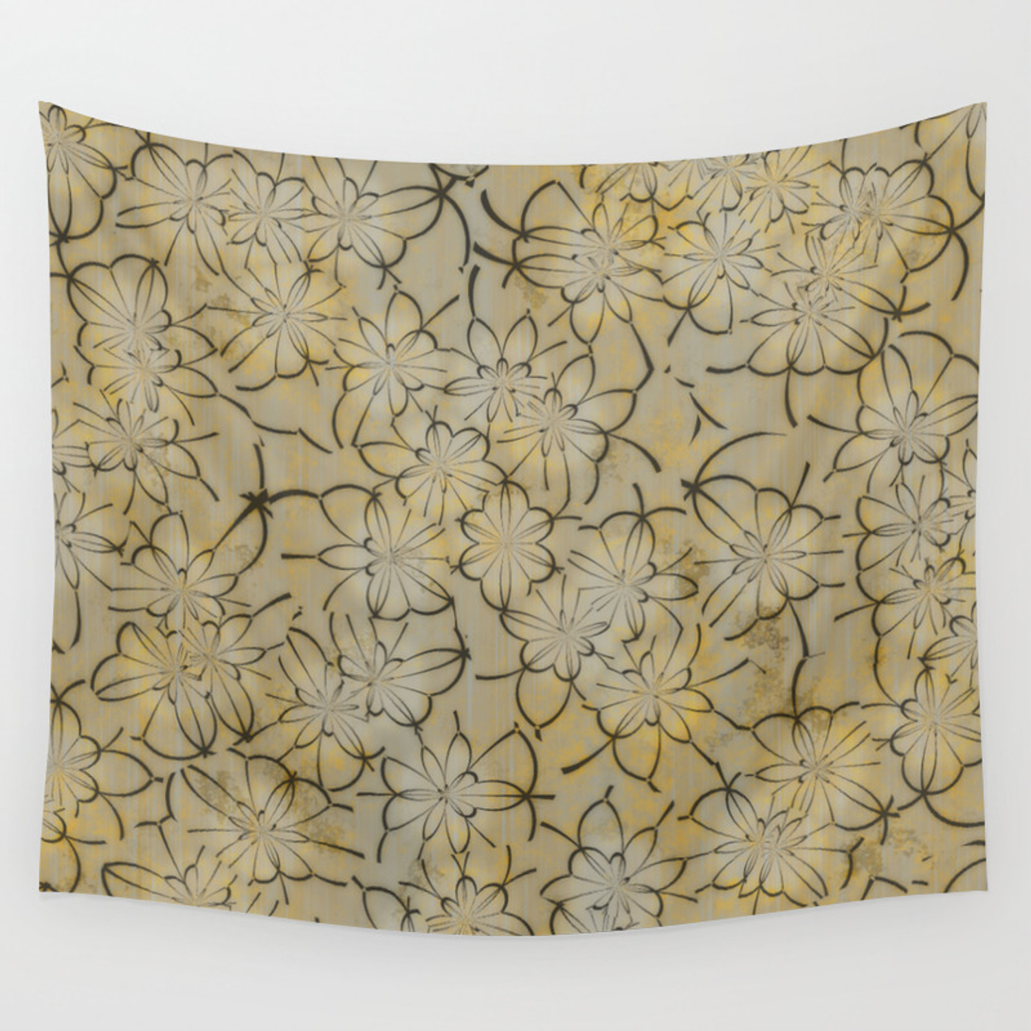 Vintage Floral Wallpaper 1a Wall Tapestry By Mehrfarbeimleben