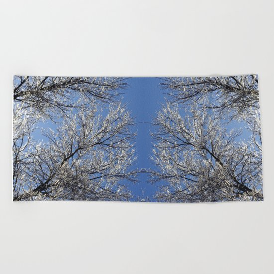 Sparkling Iced Branches Beach Towel