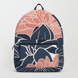 Summer Coastal Floral Backpack