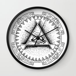 The Triangle-shaped Watcher Wall Clock