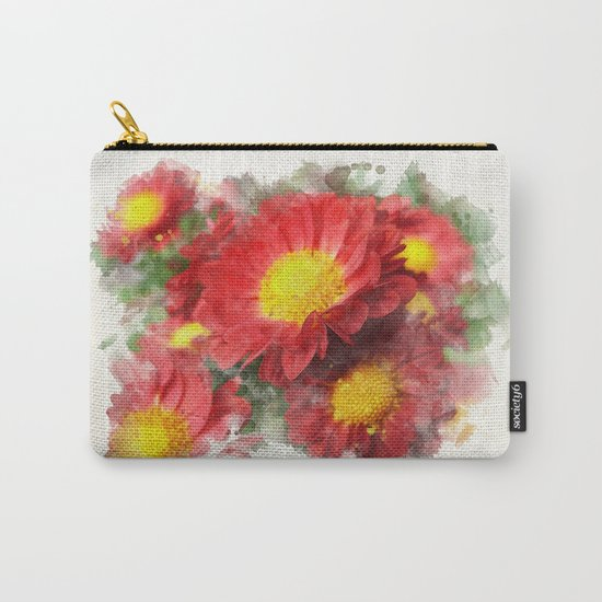Chrysanthemum Watercolor Painting Carry-All Pouch