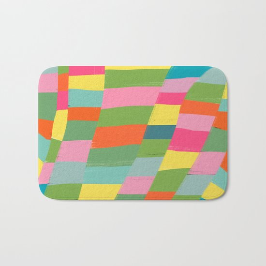 colorful patchwork 3 Bath Mat