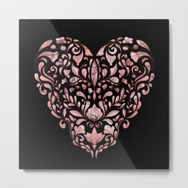 Ornate Heart Metal Print
