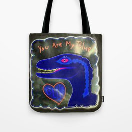 You Are My Blue Dinosaur Tote Bag