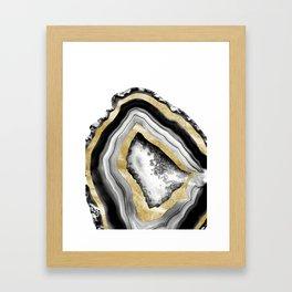 Agate Gold Foil Glam #1 #gem #decor #art #society6 Framed Art Print