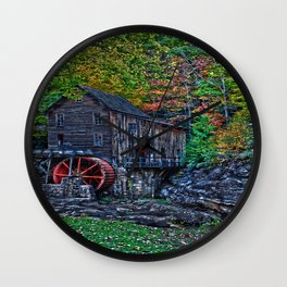 Old Grist Mill Babcock State Park WV Wall Clock