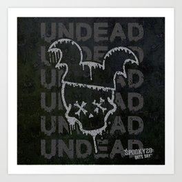 UNDEAD - BATS DAY XX Art Print