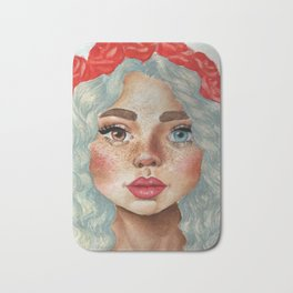 'Girl With Flower Crown' Bath Mat