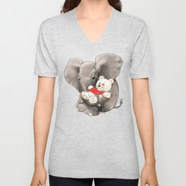 Baby Boo with Teddy Unisex V-Neck