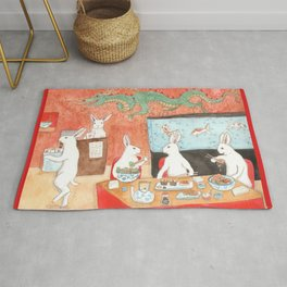 Sushi and Noodles Rug