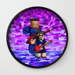 8bit boy with 12th doctor who shadow iPhone 4 4s 5 5c 6, pillow case, mugs and tshirt Wall Clock