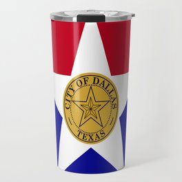American cities-  Flag of Dallas. Travel Mug