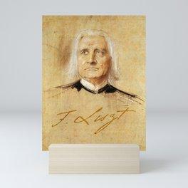 Franz Liszt (1811-1886). Painting by Franz Von Lenbach Mini Art Print