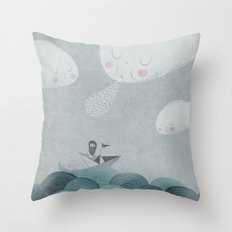 Blowing by the Wind Throw Pillow