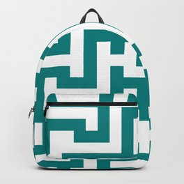 White and Teal Green Labyrinth Backpack