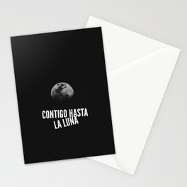Contigo hasta la Luna Stationery Cards