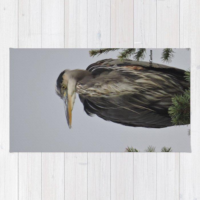 Tree Top Heron at Dawson Creek Park Rug