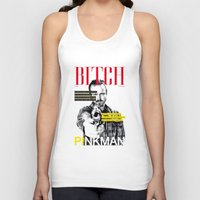 bitch Tank Tops featuring Bitch by Leigh Harris