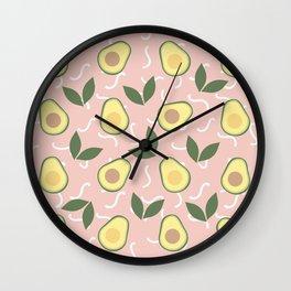 Avocado Fiesta Wall Clock