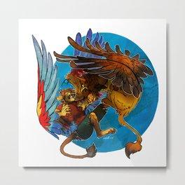 Sphinx vs. Gryphon Metal Print