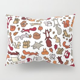 Squirrels in Fall Doodle Pillow Sham